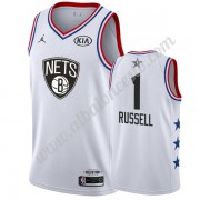 Camisetas NBA Baratas Brooklyn Nets 2019 Dangelo Russell 1# Blanco All Star Game Swingman..